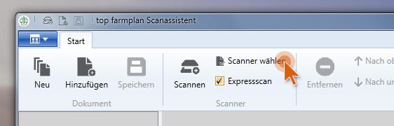 Scanassistent Scanner wählen