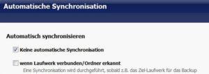 pureSYNC automatisch synchronisieren