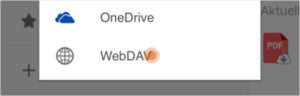 webDAV Cloud Speicher