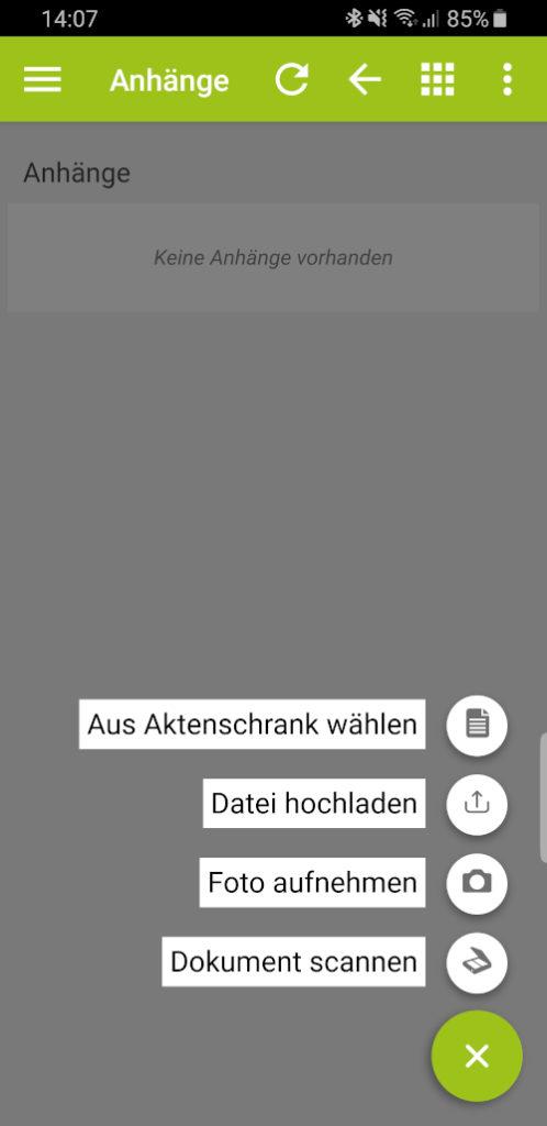 App-Ackerschlagkartei-dokument verknüpfen Quelle auswählen