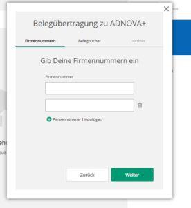 Belegübertragung ADNOVA+
