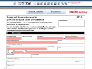 agrardieselantrag agrardieselvergütung Formular 1140 Zoll